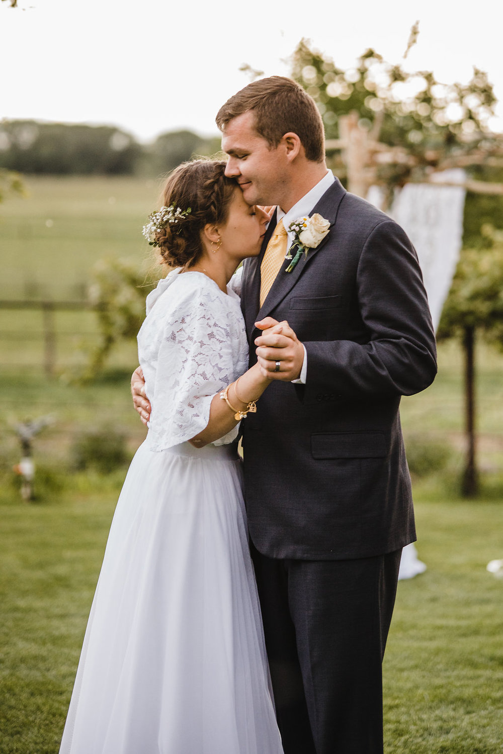 bride and groom first dance at their reception brigham city utah wedding photographer professional wedding photos calli richards