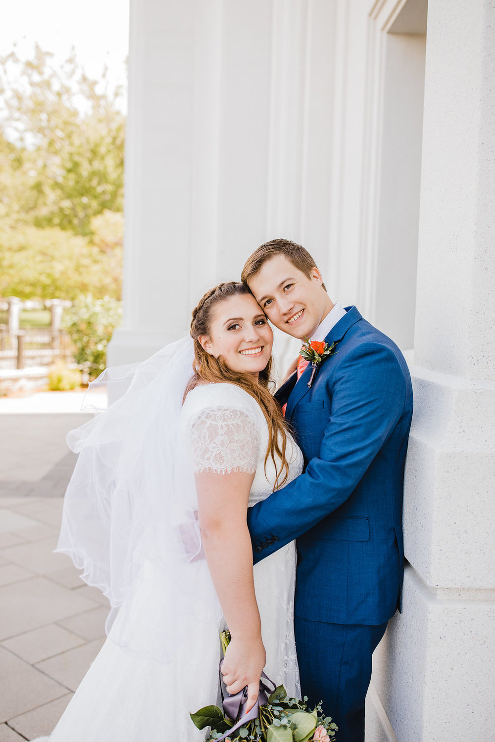 professional wedding day photographer in brigham city utah at the temple