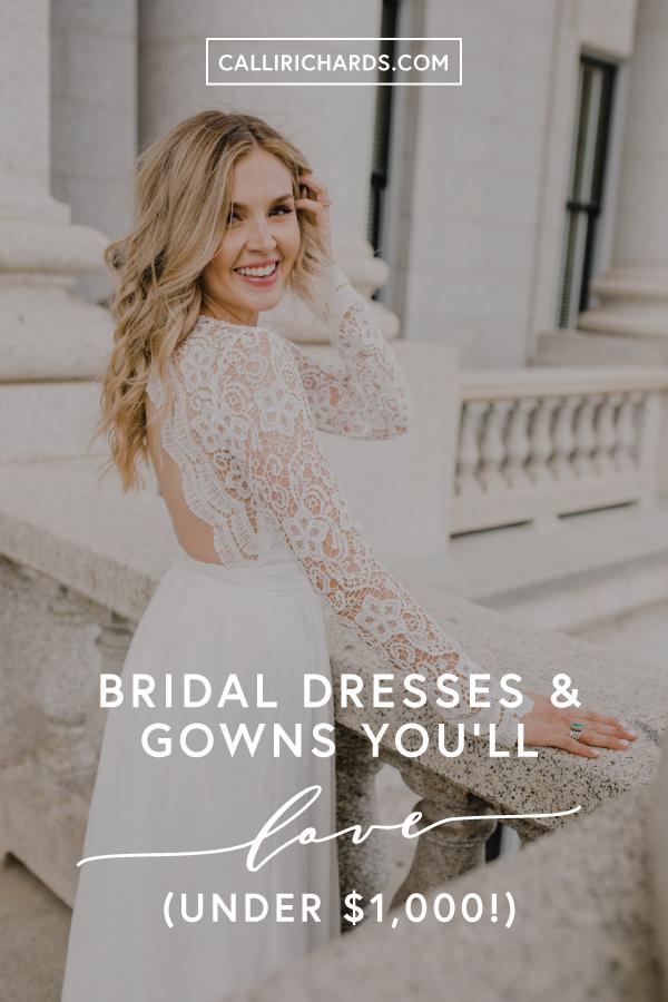 Wedding Dresses Youll Love All Under 1000 Calli Richards