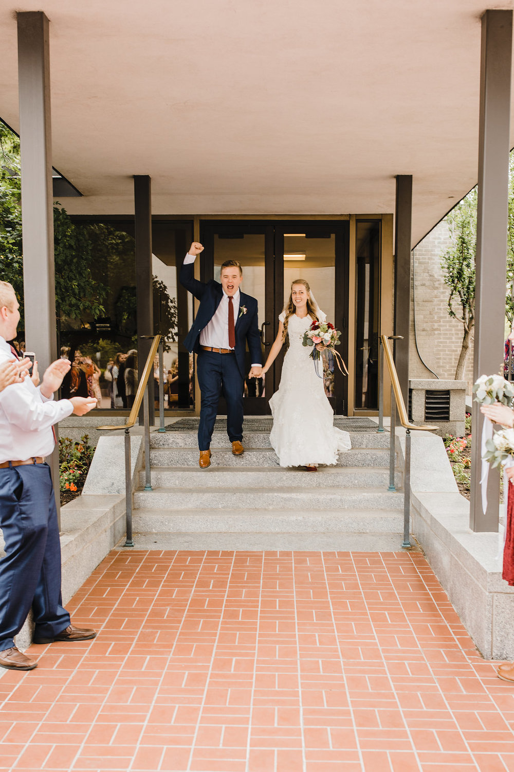 lds temple exit wedding photographer in salt lake city mormon wedding temple professional photography