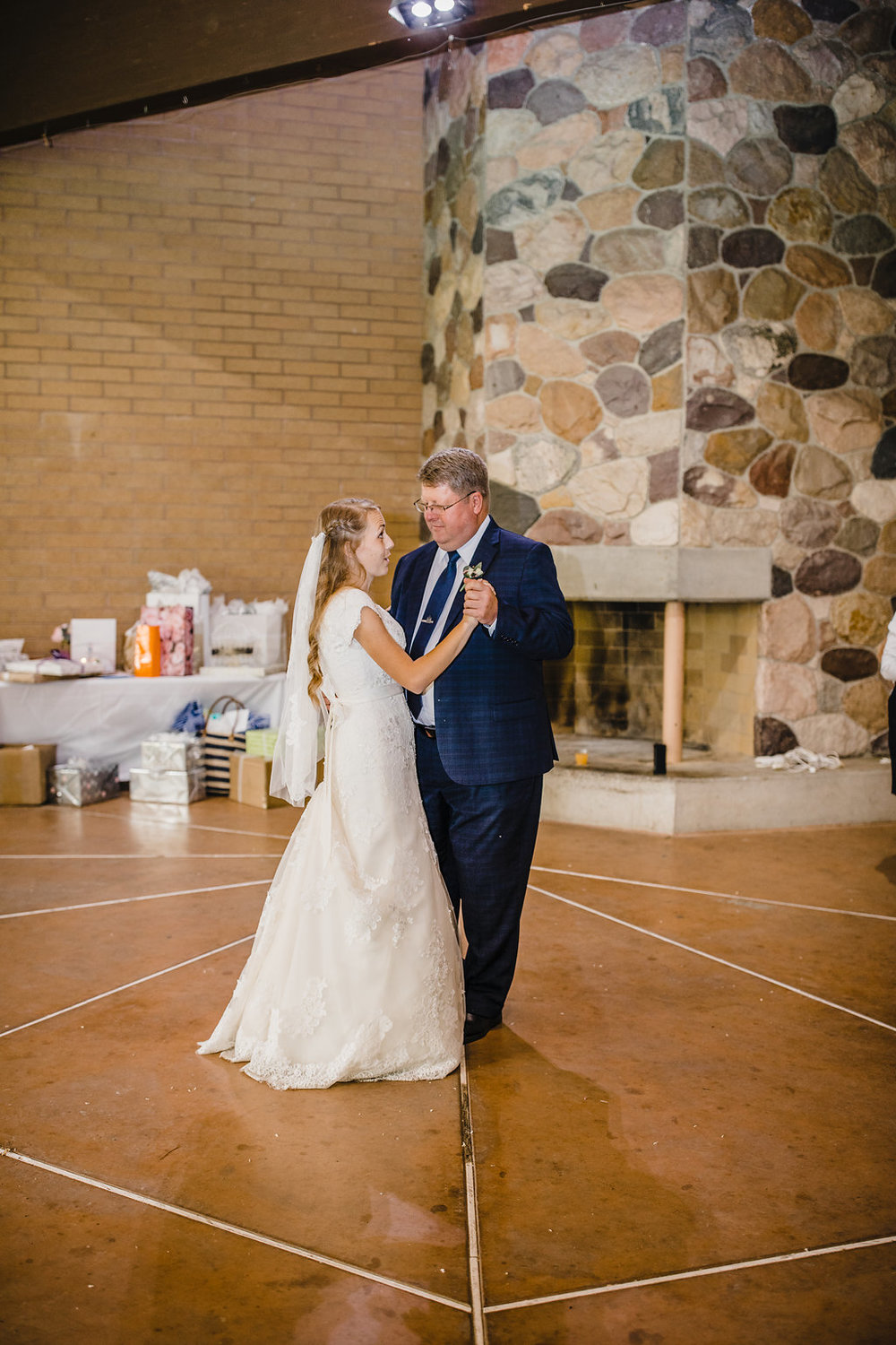 bride and father dance at reception professional wedding day photographer calli richards salt lake city utah lds wedding reception northern utah