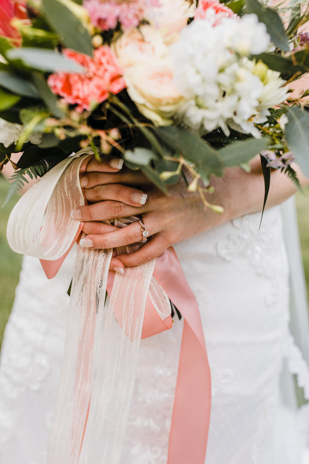 rose gold wedding ring details photography