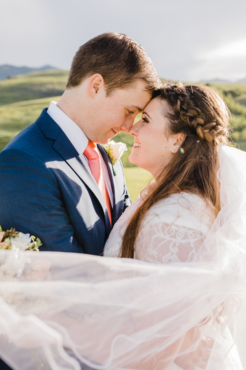 wedding photographer in westminister colorado bridal veil wedding braids outdoor bridals