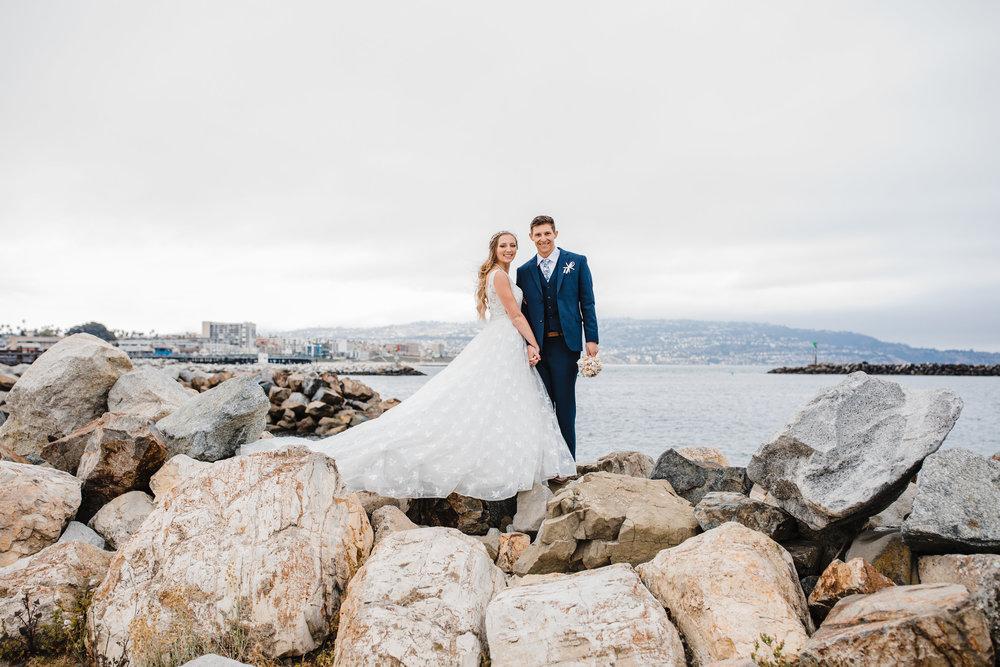 utah valley professional wedding photographer provo beach wedding  pier wedding train rocky beachfront