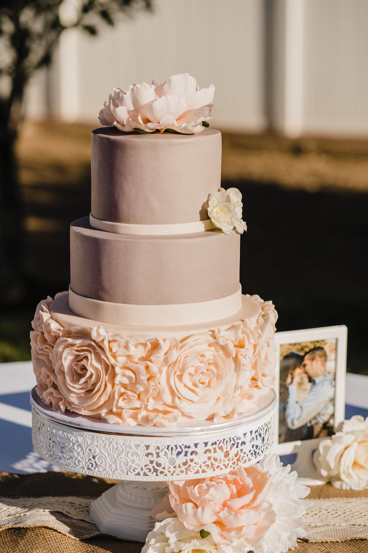 best wedding photographer in provo utah blush pink wedding cake rose cake reception