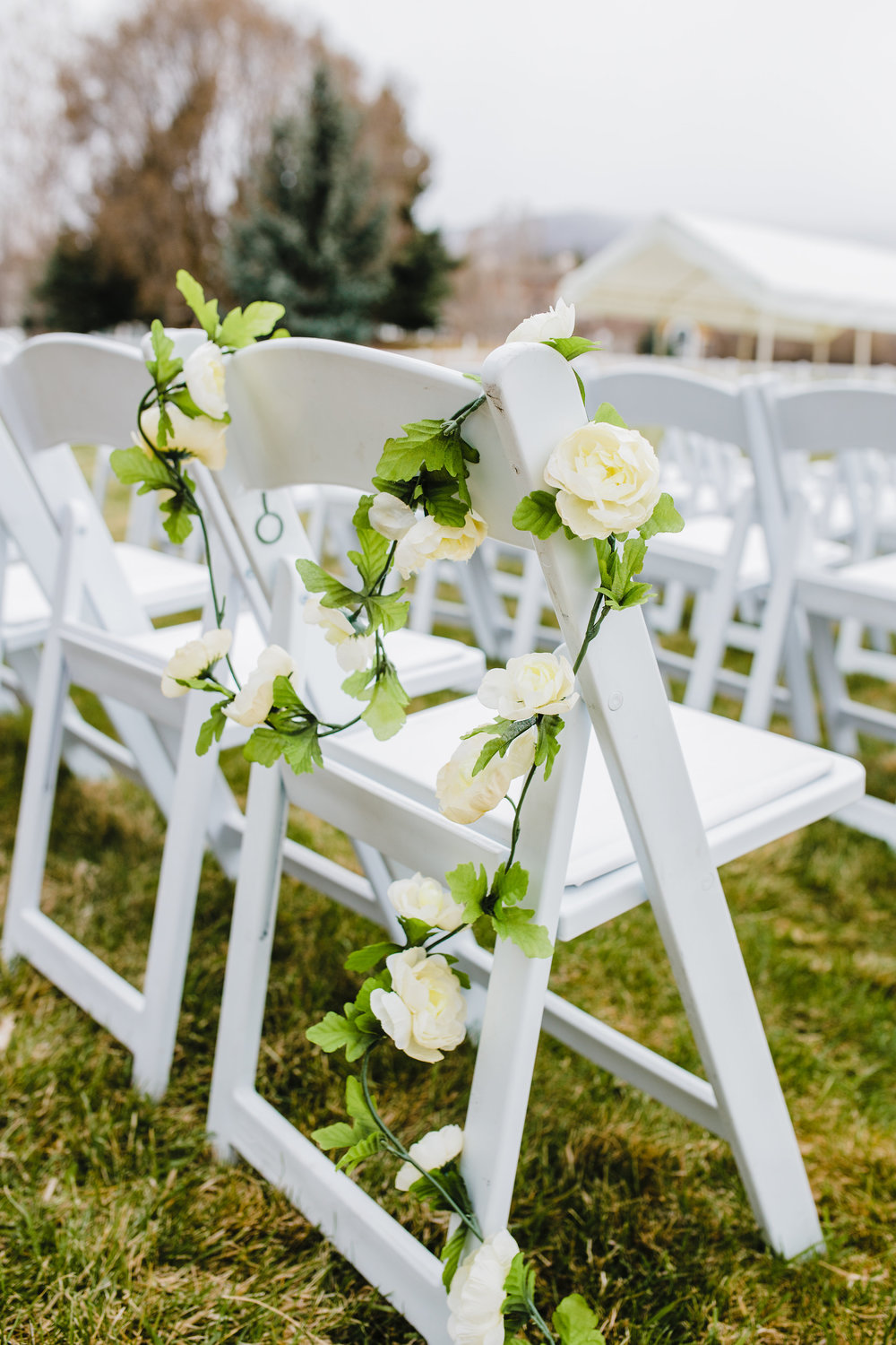 best wedding photographer in park city utah outdoor wedding ceremony spring wedding white wedding chairs outdoor wedding decor