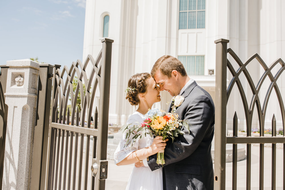 Brigham City Utah Wedding Photographer LDS Temple Wedding Summer Wedding Wedding Bridals Professional Wedding Photographer