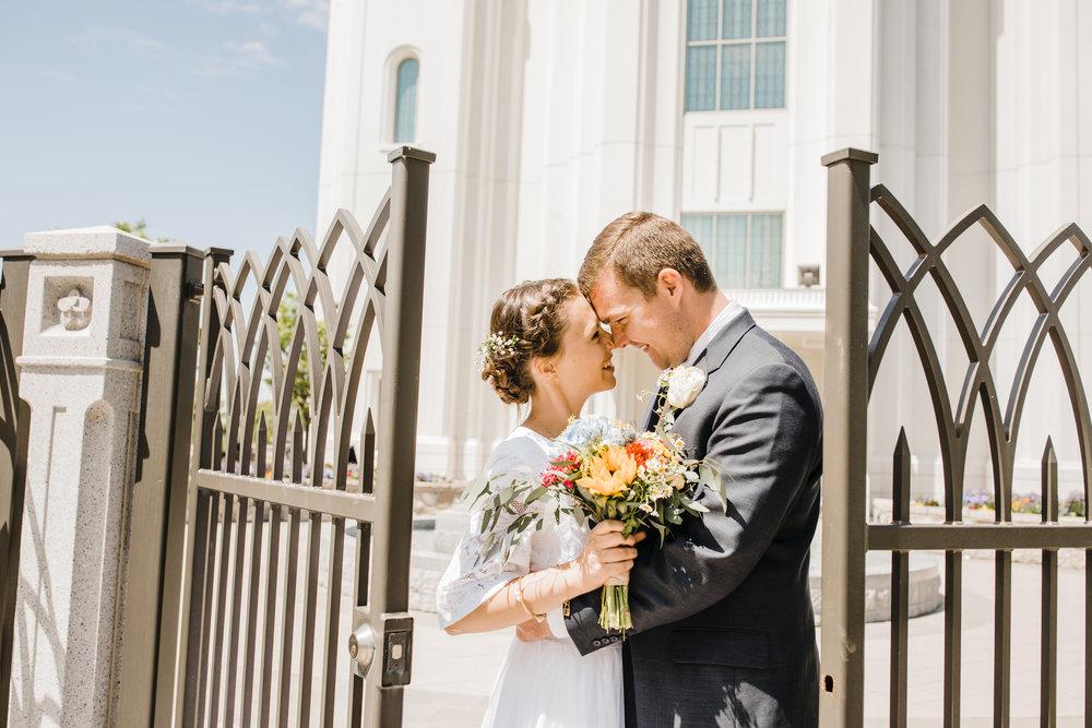 Brigham City Utah Wedding Photographer LDS Temple Wedding Summer Wedding Wedding Bridals Professional Wedding Photographer