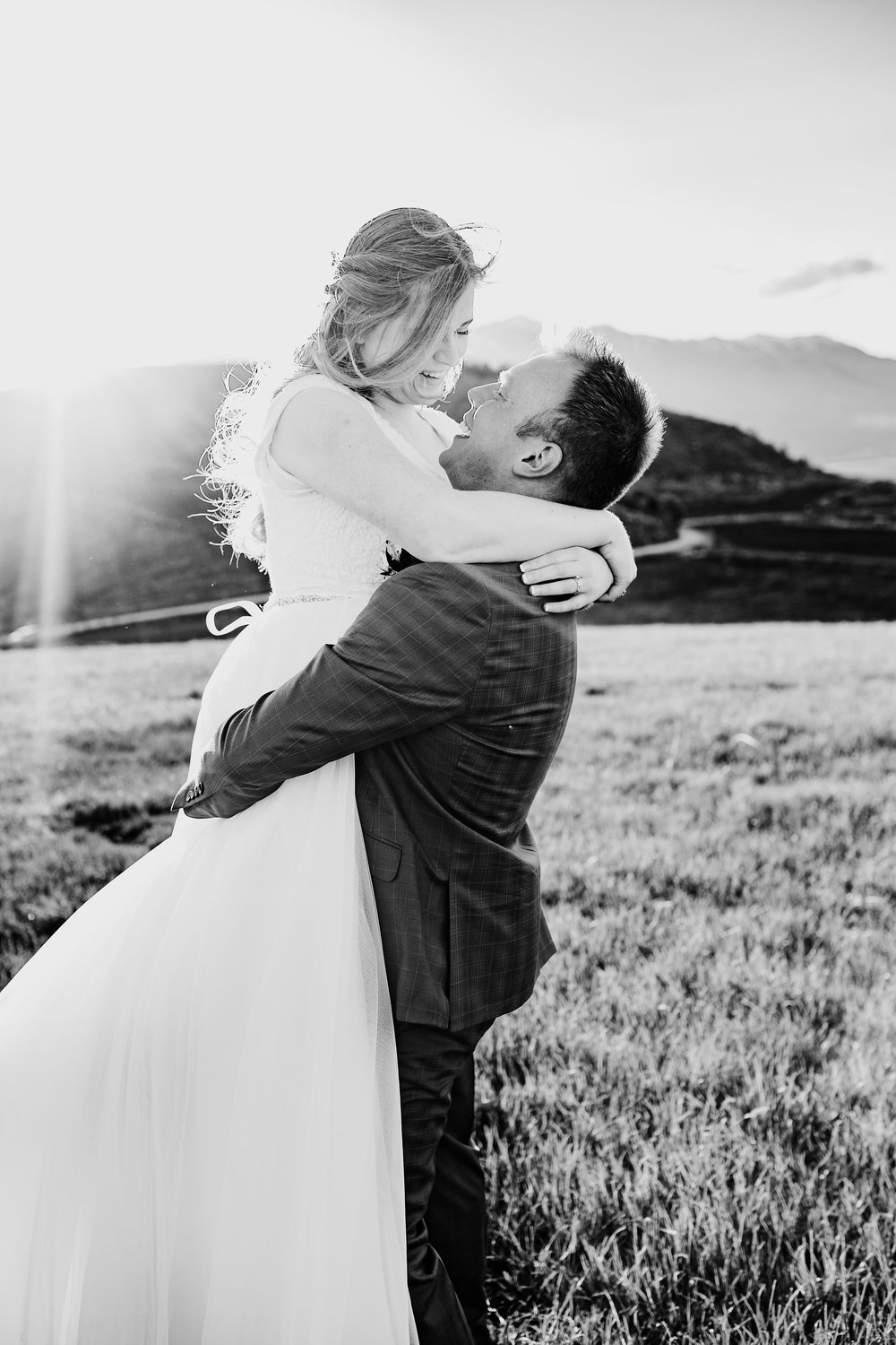 black and white romantic wedding day photography arvada colorado photographer for couples and weddings