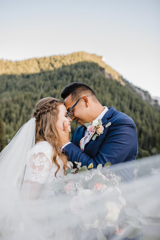 veil shot provo utah wedding formals calli richards bride and groom wedding hair floral tie