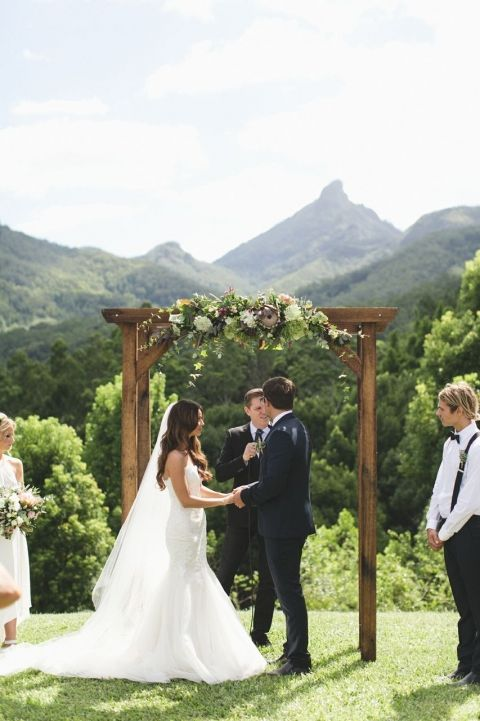 fall wedding arch bohemian wedding outdoor wedding ceremony