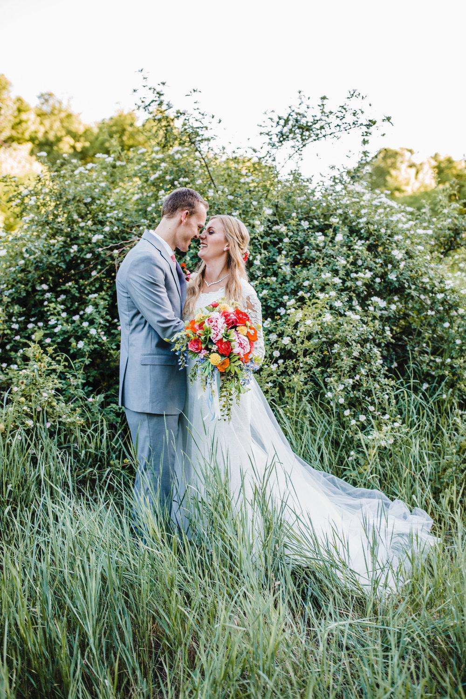 Logan Utah wedding photographer mountain wedding orange flowers