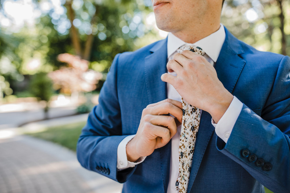 cache valley professional wedding photographer groom details wedding suit