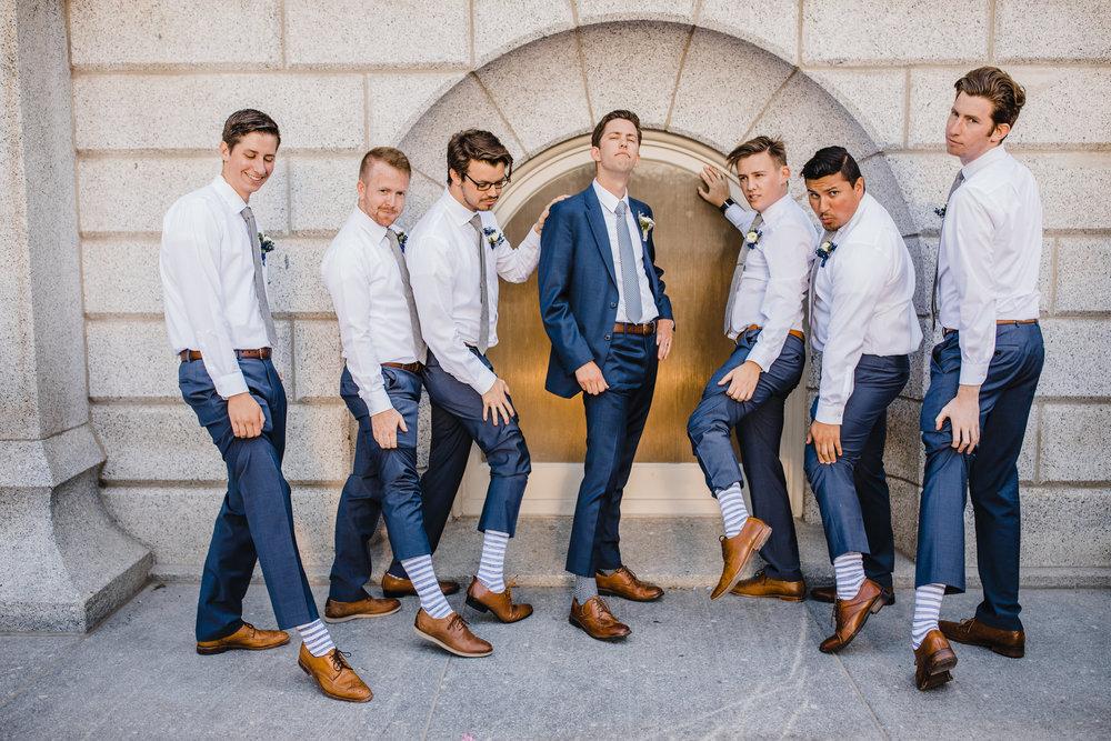 salt lake city wedding photographer groomsmen wedding socks