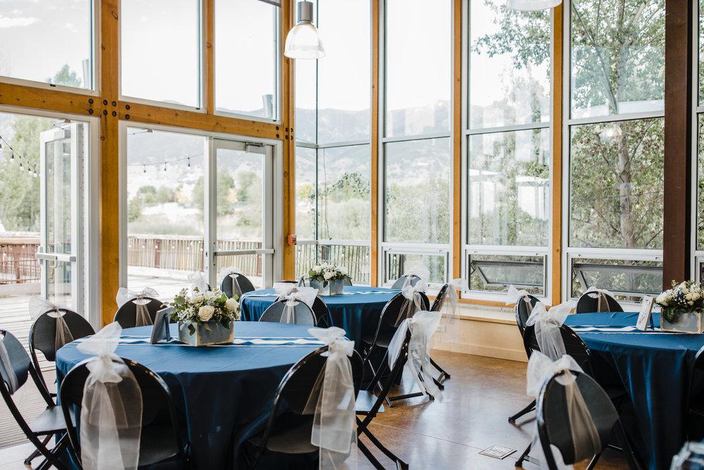 salt lake city wedding photographer navy reception windows centerpieces