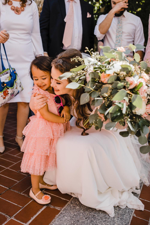 salt lake city wedding photographer lds temple exit flower girl