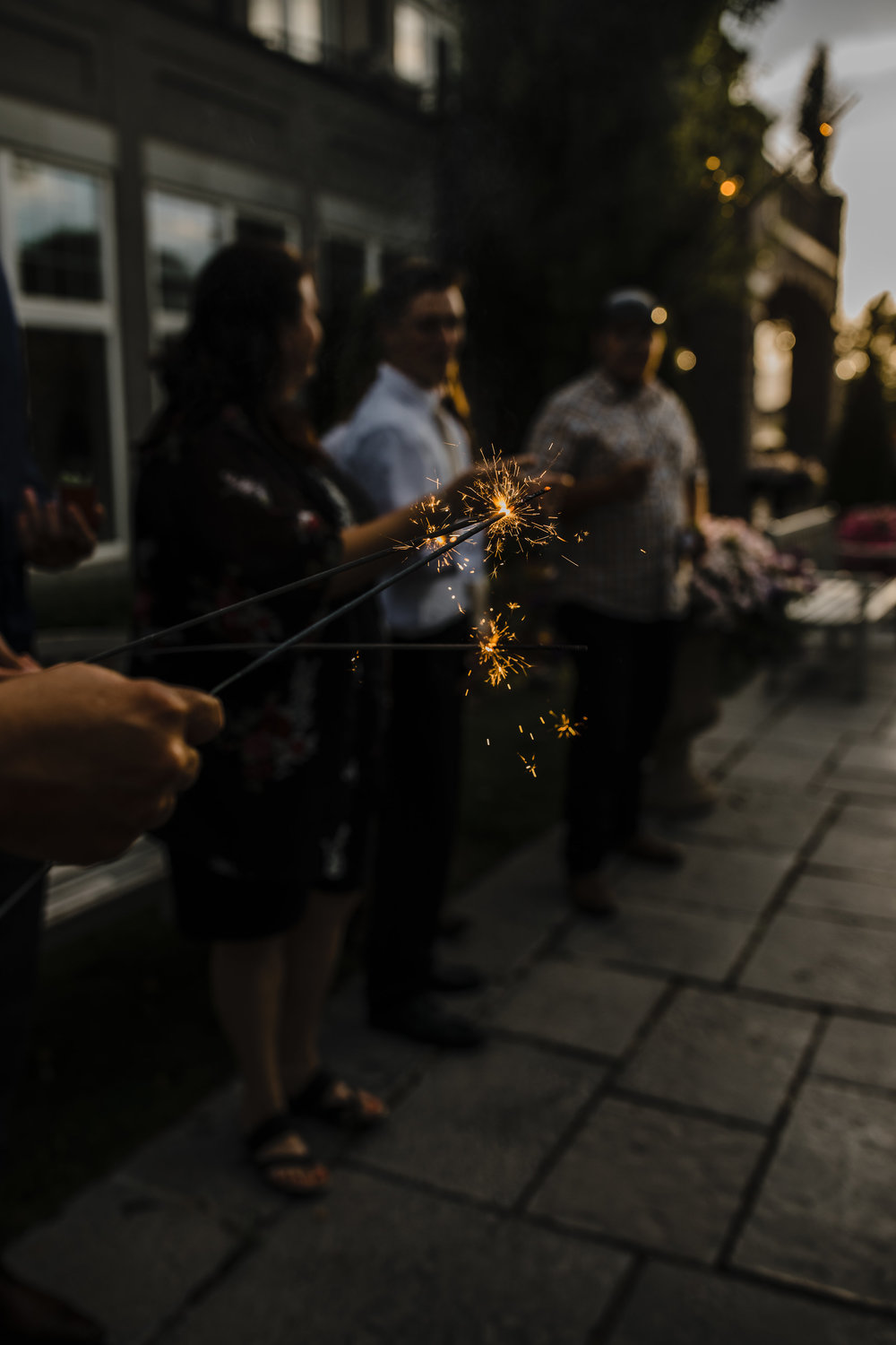 wedding reception send off with sparklers utah wedding day photography details
