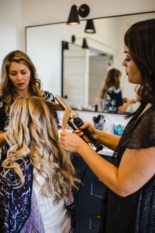 best photographer in South Jordan utah getting ready picture bohemian hair curls