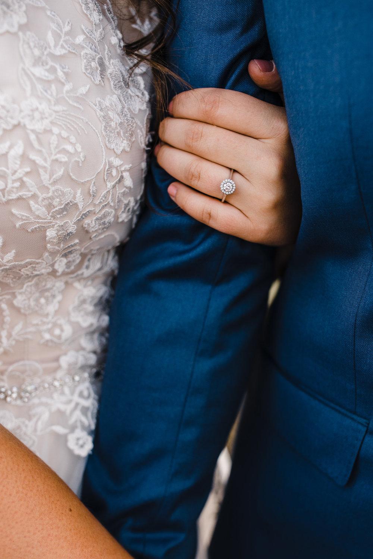 logan utah wedding photographer engagement rings lace dress