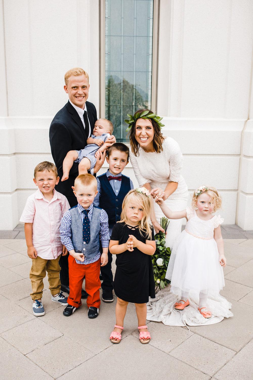 professional wedding photographer in brigham city utah flower girl and ring bearers