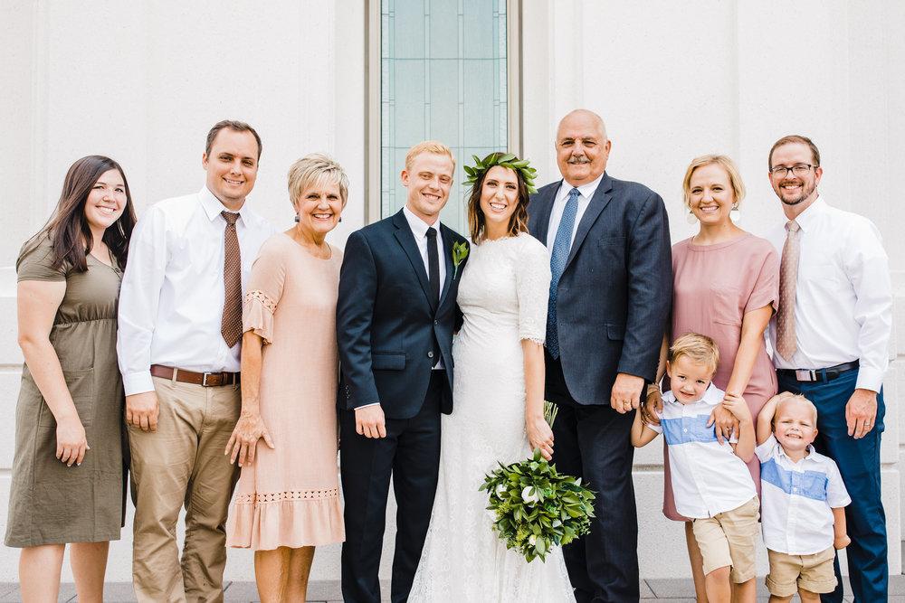 brigham city professional wedding photographer lds temple family pictures blush dresses