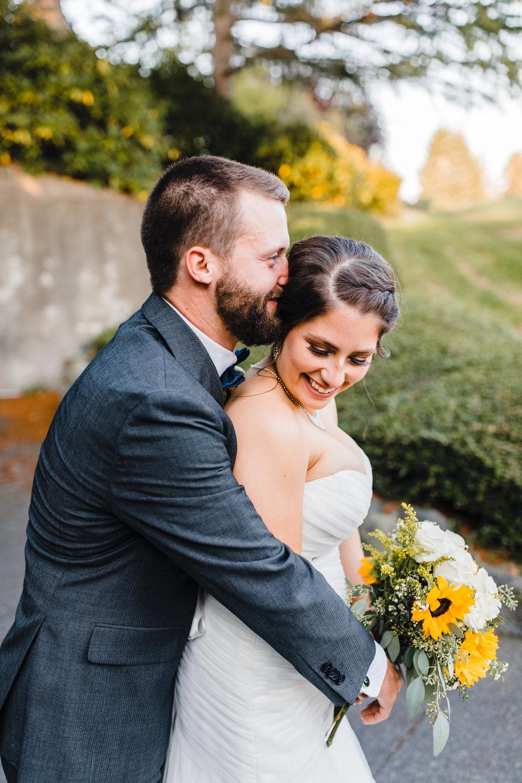olympia washington professional wedding photographer hugging romantic happy