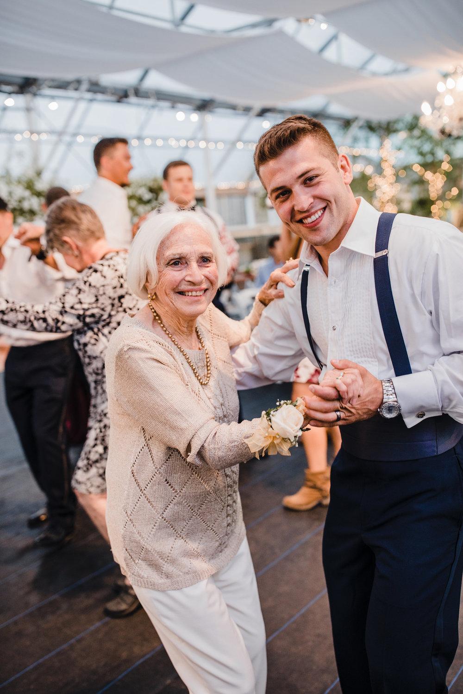 best olympia washington wedding photographer dancing groom and grandma