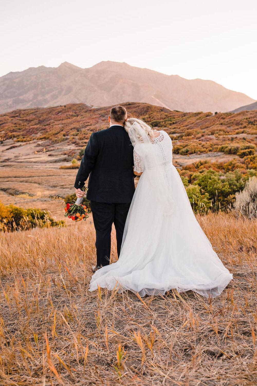 ogden utah photographer formal sunset mountains hugging romantic