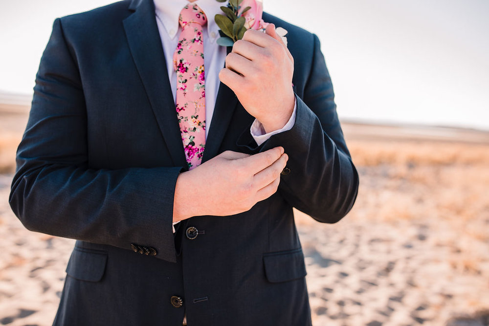 floral wedding tie suit buttons antelope island salt lake city utah formal photographer