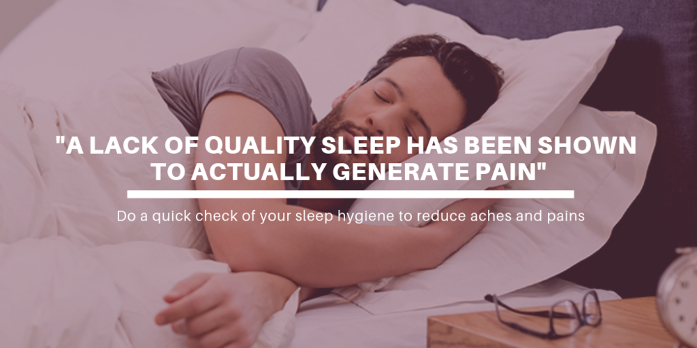 Dealing with low back pain: check your sleep hygiene