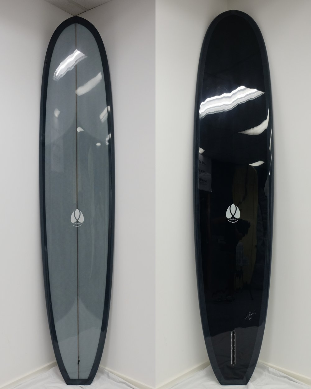 Vintage Longboard - Soft Grey Dark Green Resin Tint.jpg