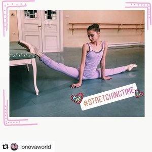 - @IONOVAWORLDDasha or Daria Ionova, Student and dancer at the Vaganova Academy in St. Petersburg Russia. Is our very first brand ambassador, who loves wearing our lavender knit warmers and loves Japanese things and Japanese food.