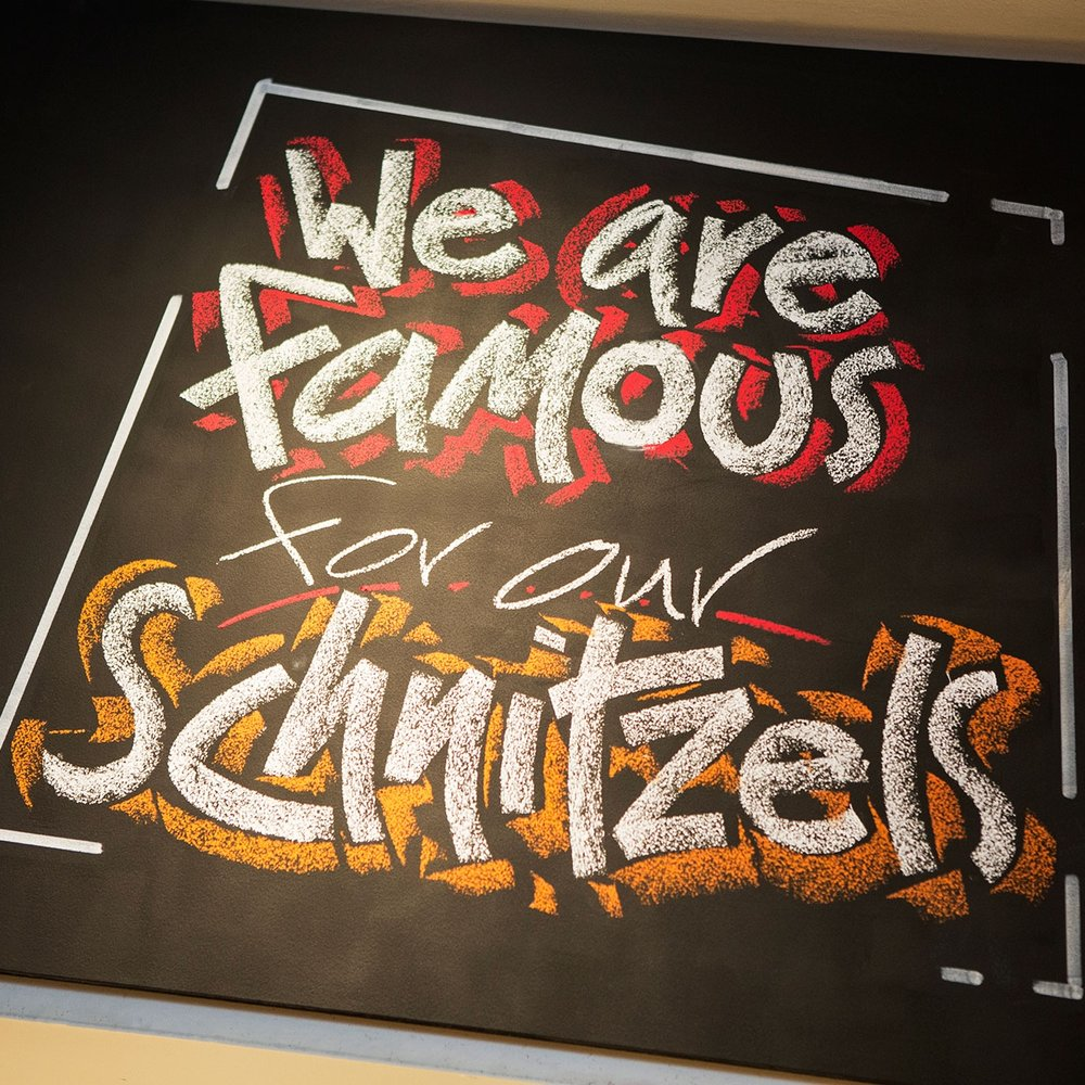 Try our famous Schnitzels!