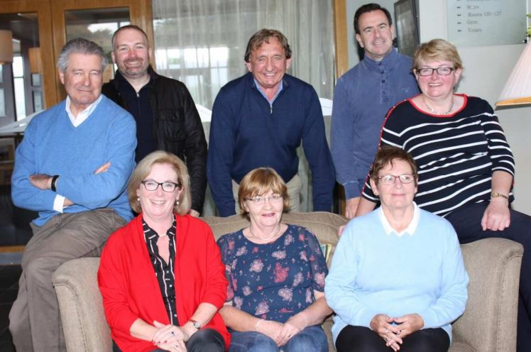 Pictured are: Back Row - Left to Right:- Niall Scott. Alan Davies, John V. O'Sullivan, Padraig Burns and Julia O'Connor. Front Row - Left to Right:- Mary Maloney, Cáit O'Shea Sheehan and Olive Quinlan. (Absent from photograph - Drew Borrett, Committee Secretary).