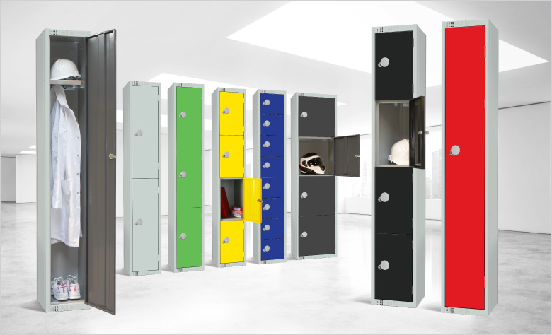 Colourful Lockers, Various sizes and locks available.