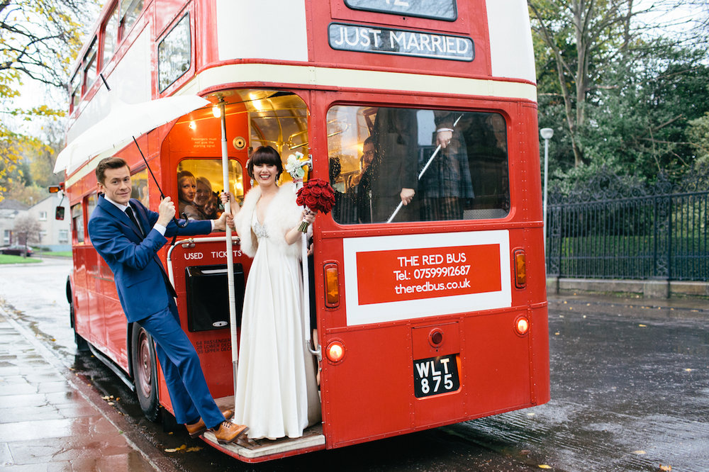 Wedding Bus | The Red Bus Edinburgh Red Bus Hire For Your Wedding The Red Bus