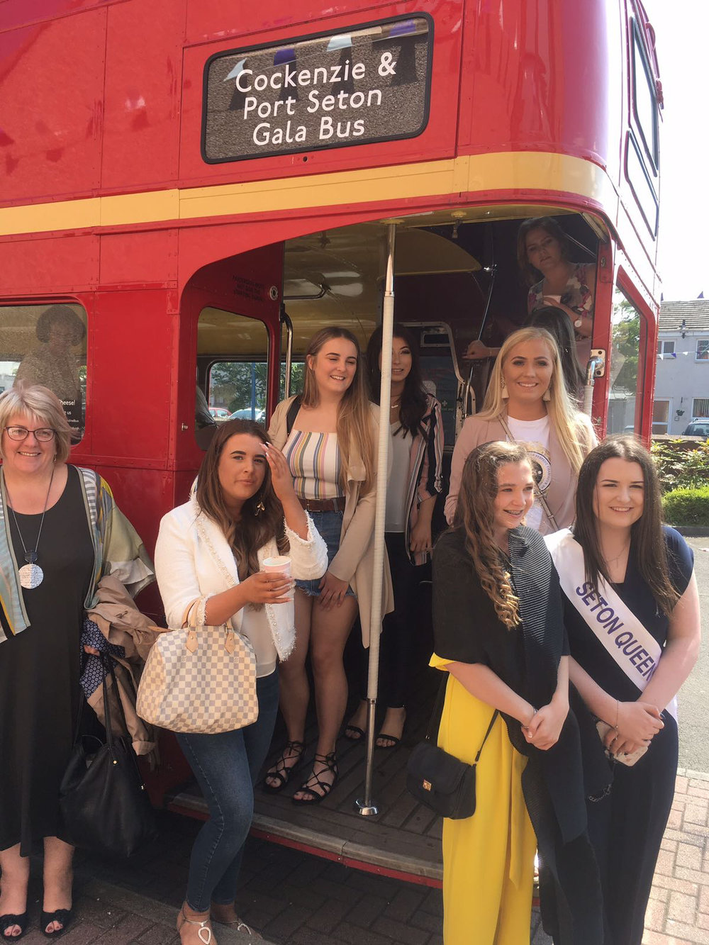 Some previous Gala Queens... The bus was a surprise for them.  Picture: Sam Phipps