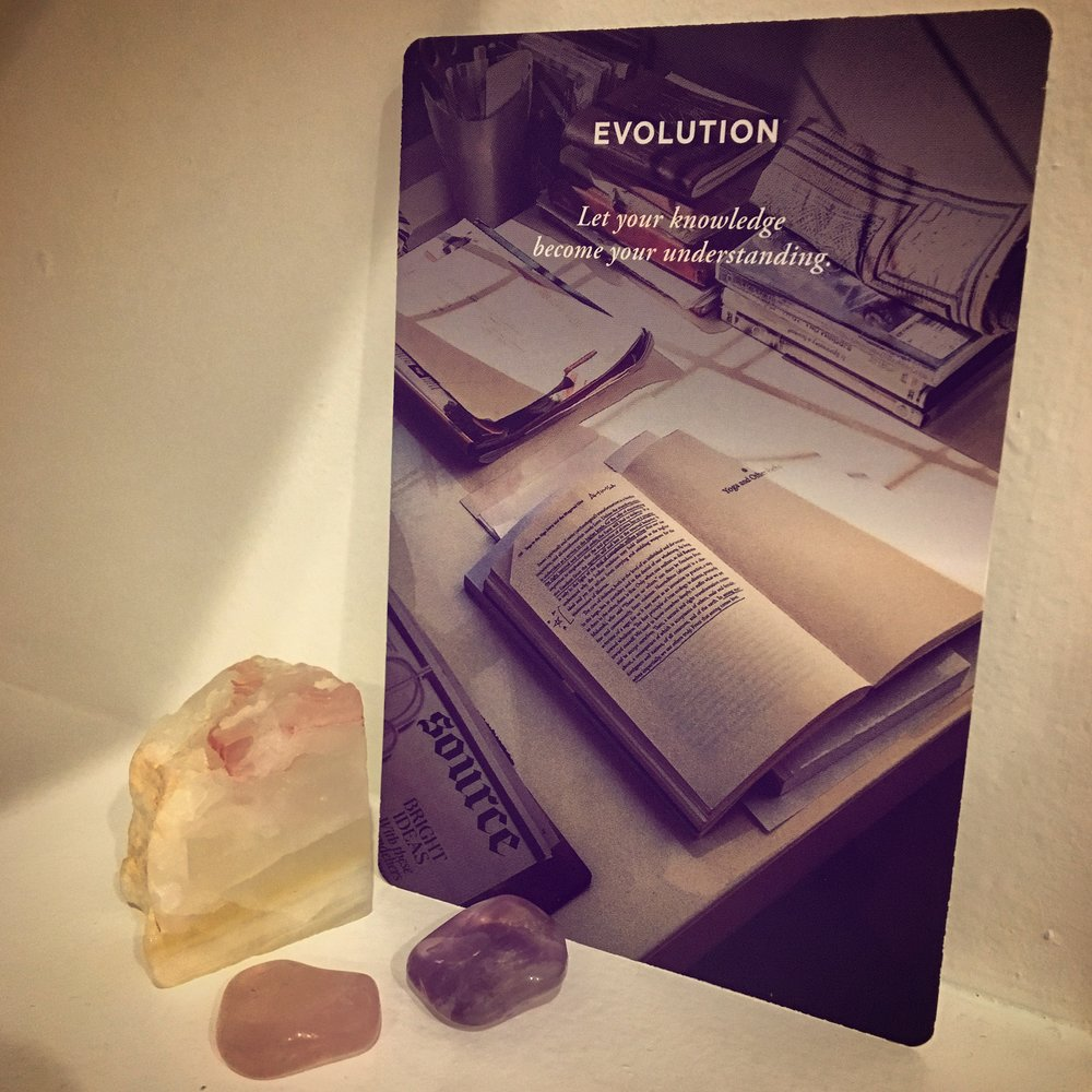 word of the week discomfort card evolution by Elena Brower