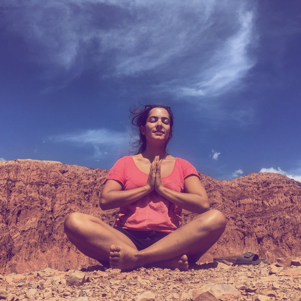 Improvised post-walk + meditation photoshoot from the Cerro de los 7 colores (the Hill of Seven Colors) in Purmamarca, Argentina