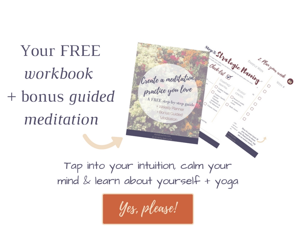 Meditation workbook + guided meditation to tap into your intuition, calm your mind and learn about yourself and yoga