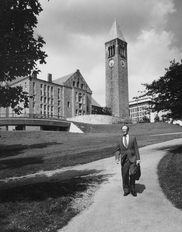 Urie Bronfenbrenner on Cornell campus