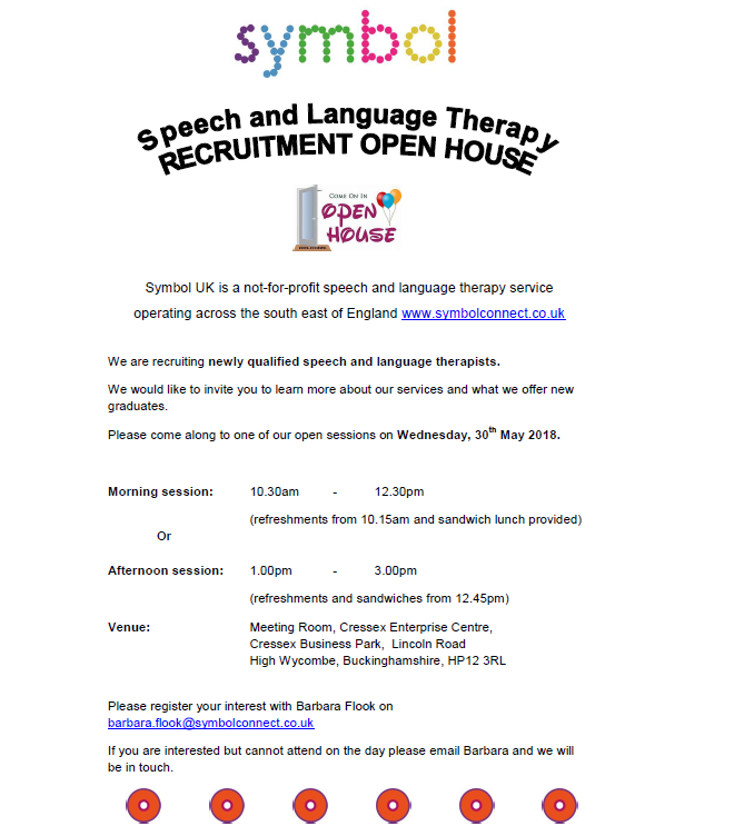 Symbol Speech & Language Therapy Recruitment Open House.png