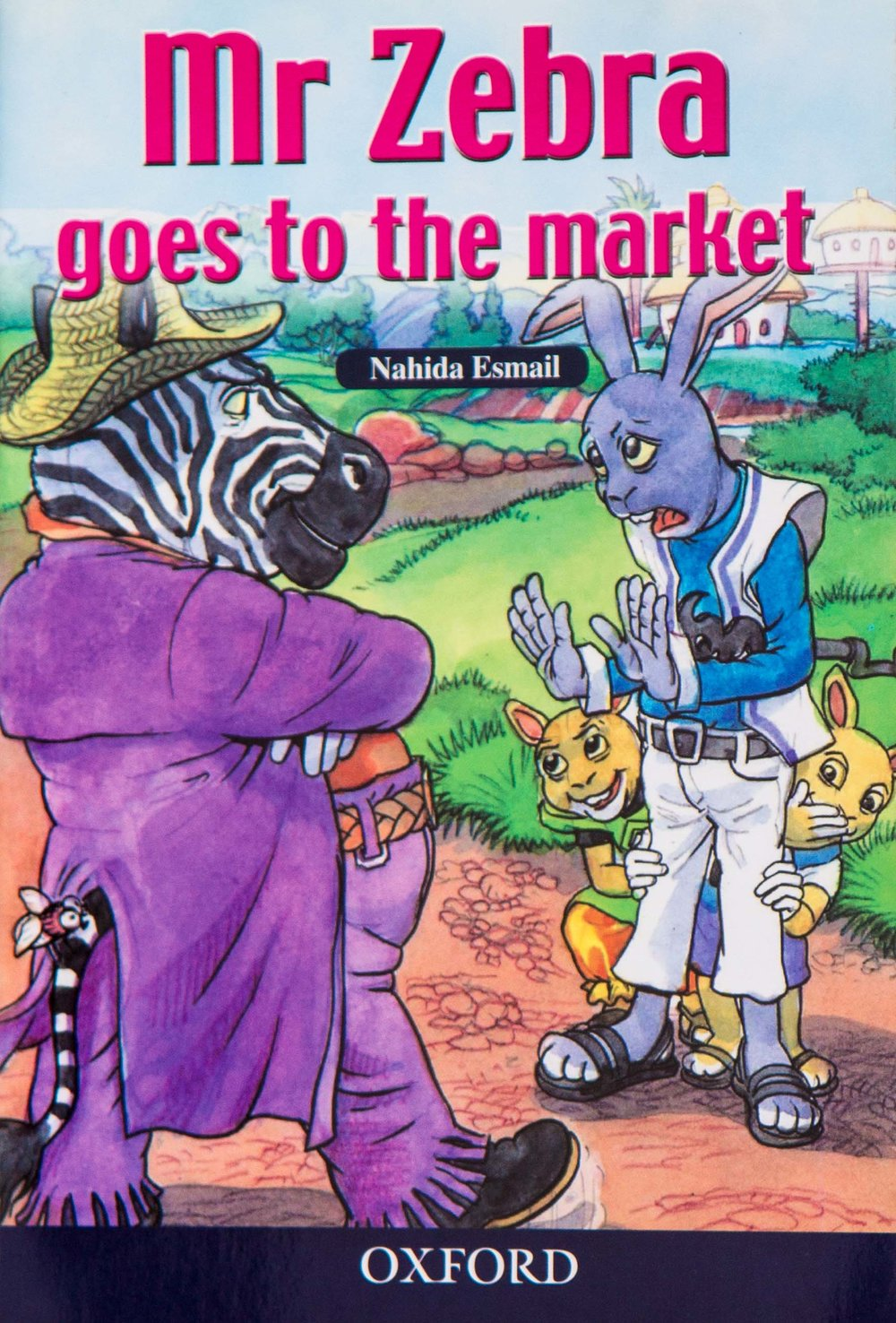 - Mr Zebra goes to the market is for children aged 8 -10. It's a story about the zebra that went to the market to buy tomatoes, he meets Mr Rabbit and his children and they decide touse a trick to make money.