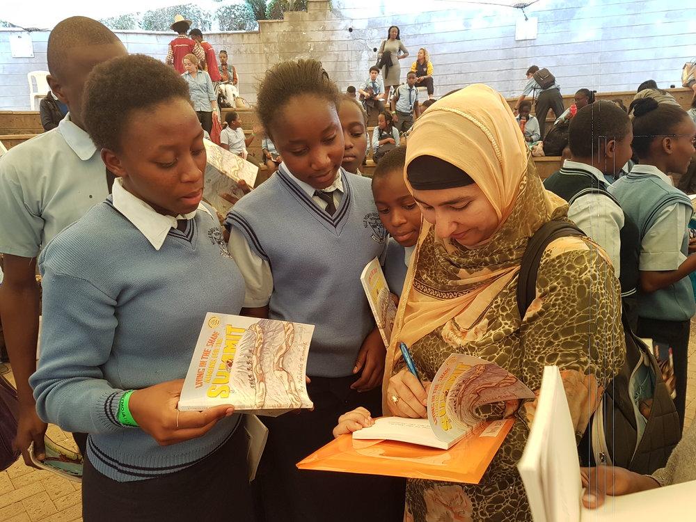 At the story moja festival 2017, Nairobi