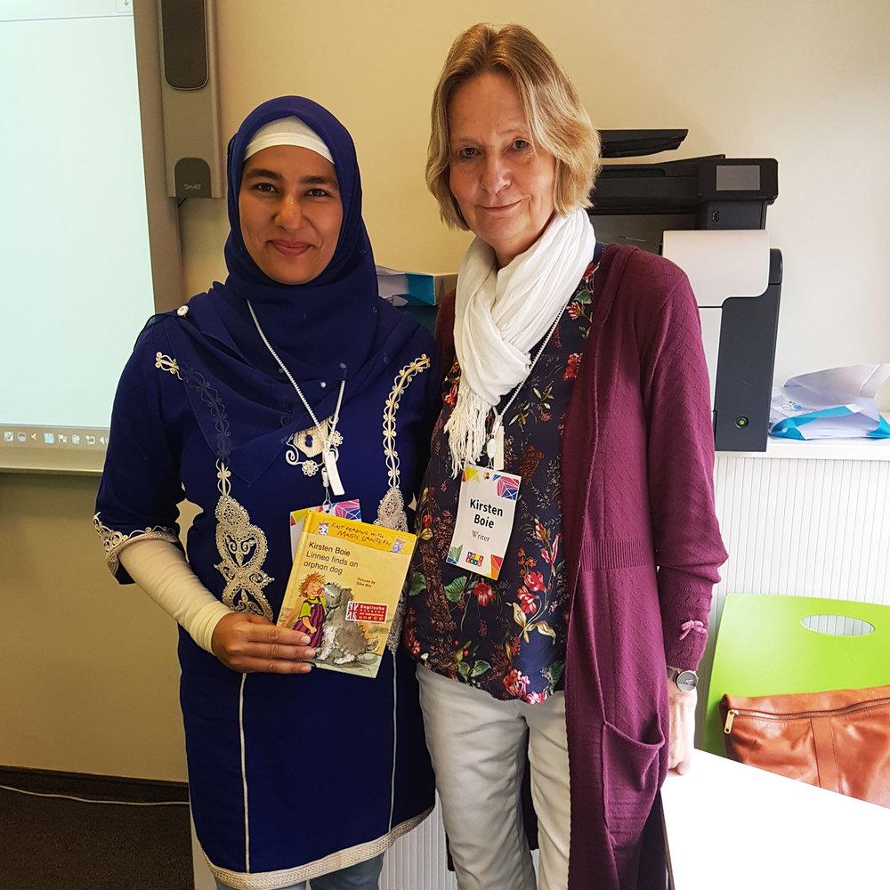 With German writer Kirsten Boie