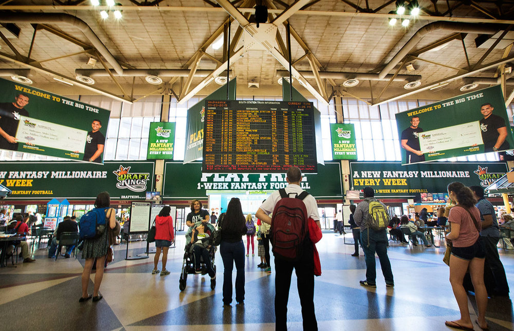 DraftKings Out of Home South Station takeover 2015 Football season