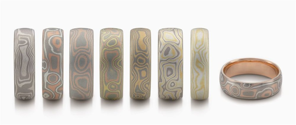 Sanblasted Mokume Rings.jpg