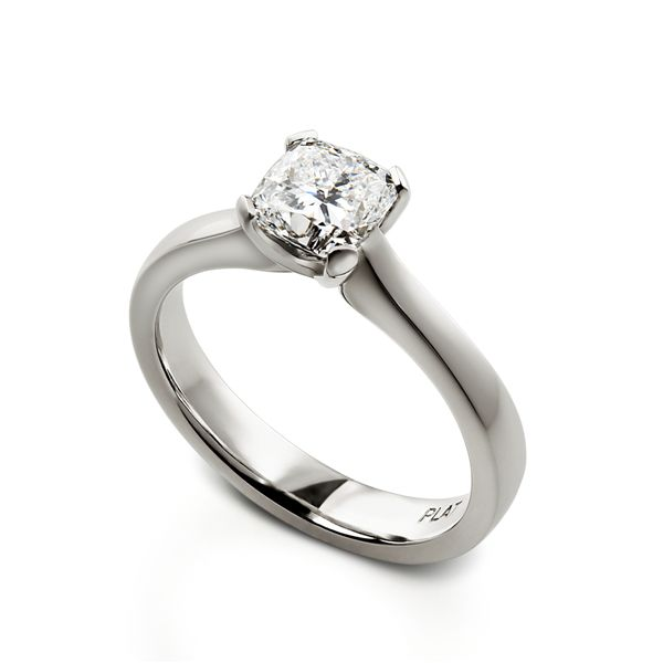 """Zeus"" - Cushion cut Diamond - Platinum"