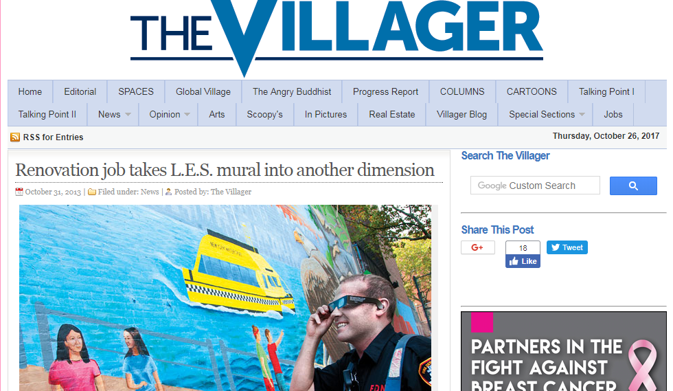 The Villager - Check out the article here!