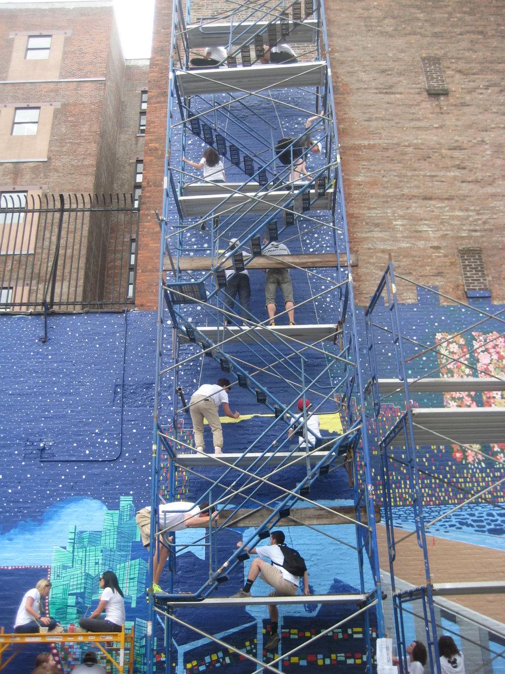 Volunteers on Scaffold.JPG